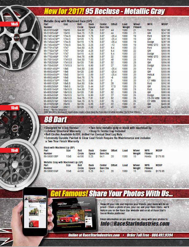 Race Star Industries 2017 Catalog